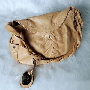 B Makowsky Ruched Glove Leather Bag